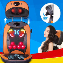Electric Infrared Heating Kneading Neck Shoulder Back Body Massage Chair Shiatsu Massager Masaj Device(China)