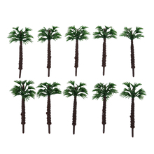 ABWE Best Sale 10pcs 2 Inch Model Palm Trees Layout Train Scale 1/400(China)