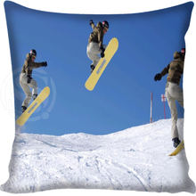 New arrival Hot Sale Skiing Outdoor sports Style throw Pillowcase Square Zippered Pillow Cover Custom Gift H@0209-15