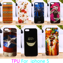 Soft TPU Mobile Phone Case For Apple iPhone SE iPhone 5SE iPhone 5 5S 5G Colorful Cover Anti-knock Hard Shield Bags