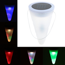 Cone Shaped Hanging Type Solar Powered solar lawn lamp Night Light Sensed Portable for Party Garden Pathway Landscape Decoration