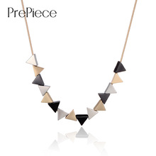 PrePiece Unique Geometric Triangle Shaped Alloy Pendant Necklace 2016 New Party Trendy Vintage Jewelry for Women Bijoux PN0585