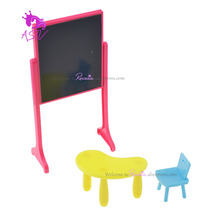 1 Set High Quality Kelly Doll Accessories Fashion Classing Room Furniture Desks + Chair + Blackboard for Barbie Doll Kelly Doll