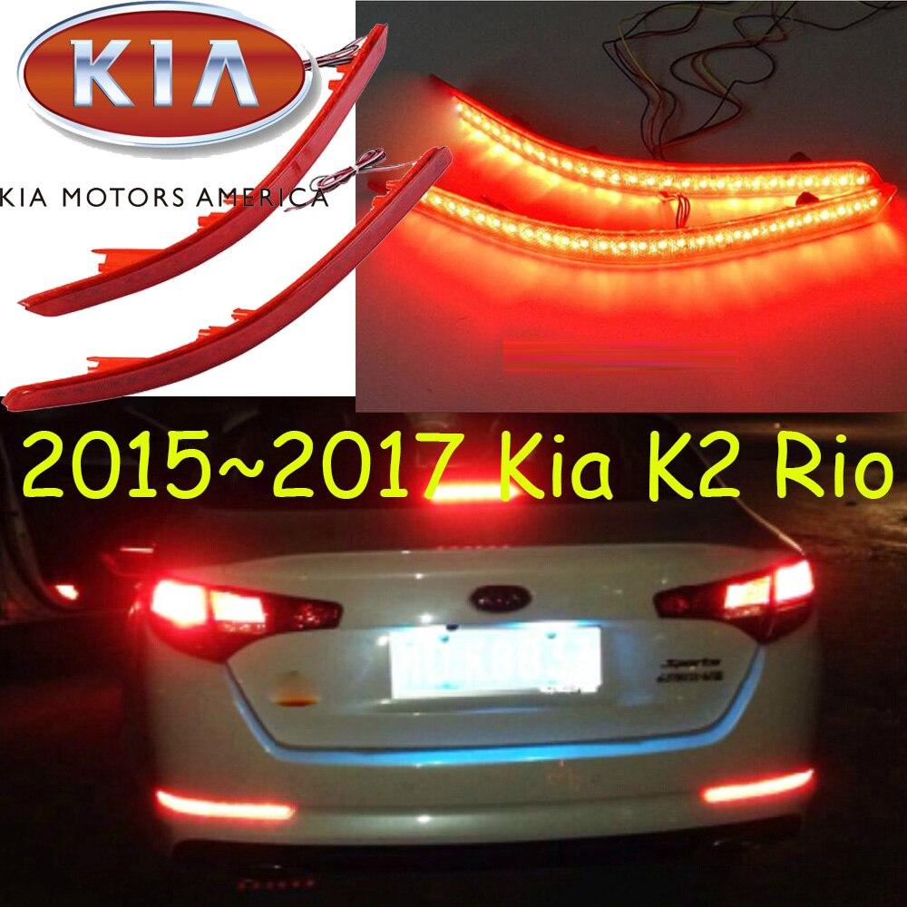 KlA K2 brake light,Sedan car,2016~2018,led,Free ship!2pcs,KlA K2 rear light;car-covers,KlA K2 tail light,K 2,Rio,K5 K7 Sorento<br>