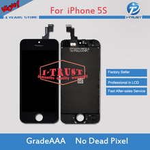 A+++ No Dead Pixel Spot Touch Digitizer LCD Screen Assembly Replacement for iPhone 5S +Ear Speaker Mesh Free DHL shipping(China)