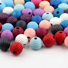 Beehive Wooden Beads 20pcs 19X19mm Surface Thread Wood Beads for Jewelry Making DIY Baby Pacifier Clip Rattle lollipop(China)