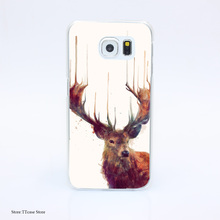 2770G Red Deer Stag Env Print Hard Transparent Case Cover for Galaxy S3 S4 S5 & Mini S6 S7 & edge