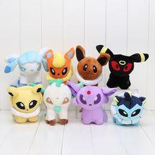 Pikachu Lot 8 Espeon Vaporeon Eevee Flareon Glaceon Leafon Umbreon Plush Toy