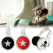 amzdeal hot Big Star Pattern Sports Style Head Type Mega Bass Earphone Headphone Headset For 3.5mm PC Mobile Phone Promotion(China)