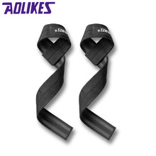 AOLIKES 2Pcs/Lot Sport Wrist Support Professional Adjustable Weight Lifting Bodybuilding Wristband Gym Strap Protection Wrist(China)