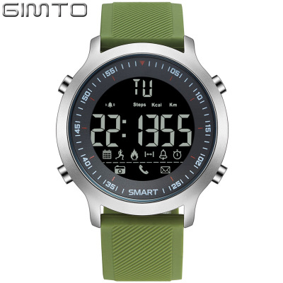 Step GIMTO smart watches sports project information bluetooth waterproof noctilucent alarm clock to remind super-long standby me<br>