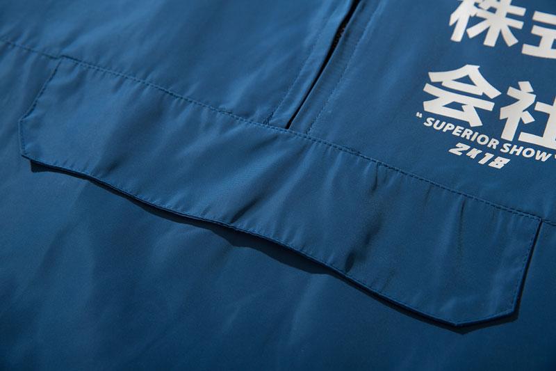 Color Block Patchwork Half Zipper Pullover Jackets 7