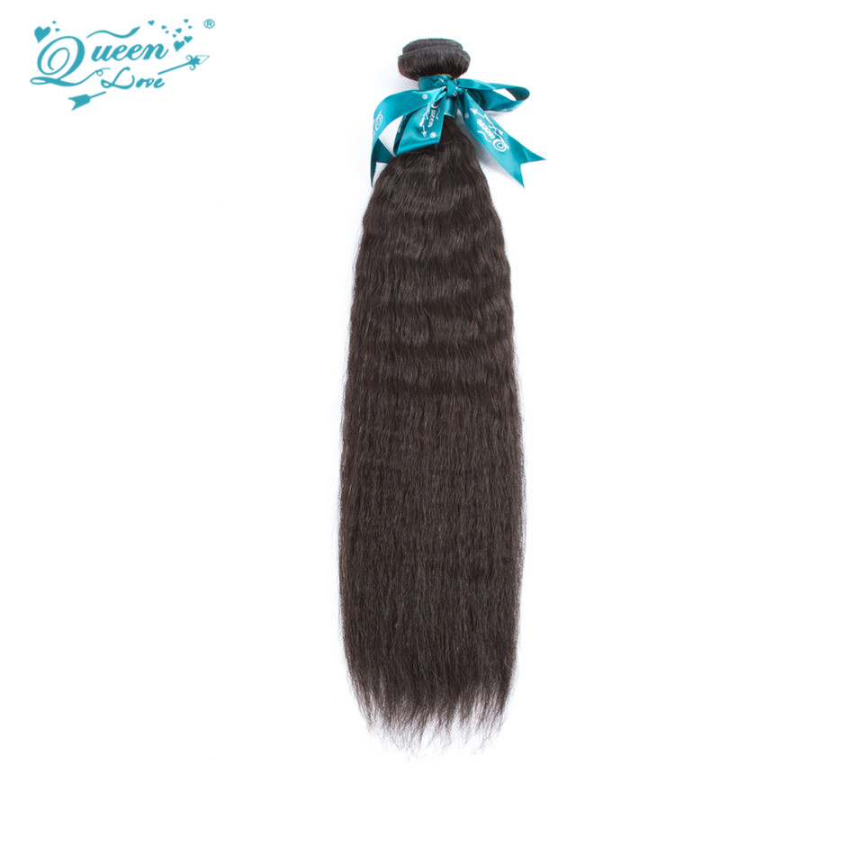 Brazilian Straight Weave Kinky Straight Hair Yaki Human Hair Extension 1Bundle 8-28 inch Natural Clor Yaki Straight<br><br>Aliexpress