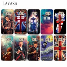 Doctor Who Union Jack Tardis Hard Transparent Case Cover for Samsung Galaxy S6 S7 & Edge S8 Plus S3 S4 S5 & Mini