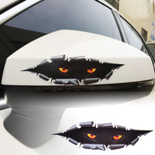 New Car Styling Sticker Funny 3D Simulation Peeking Eye Monster Leopard Decal Car SUV Window Whole Body Cover for All Cars SUV(China)