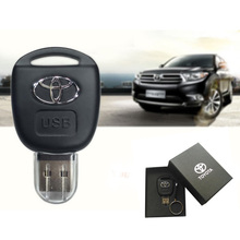 2017 Car Key Toyota USB Flash Drive 8GB 16GB 32GB 64GB Personalise Pen Drive USB Memory Stick Original Gift Box  Storage device