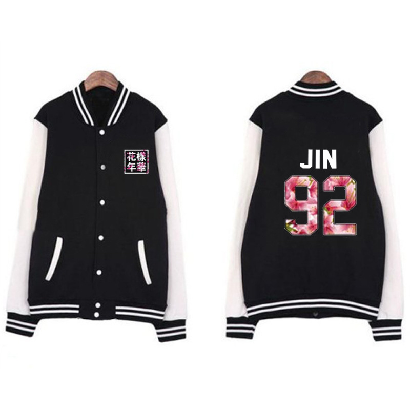 Kpop home New Bangtan boys Bts printing Lucky number High Quanlity Cotton thickbaseball Jacket uniform hoodie Sweatershirt Coat
