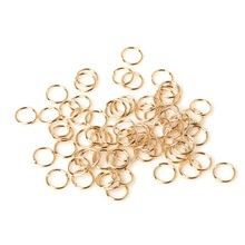 Wholesale 0.5*5MM Approx 750pcs/lot Rose Gold Plated Jump Rings Single Loop Open Split Rings for Jewelry Making Accessories