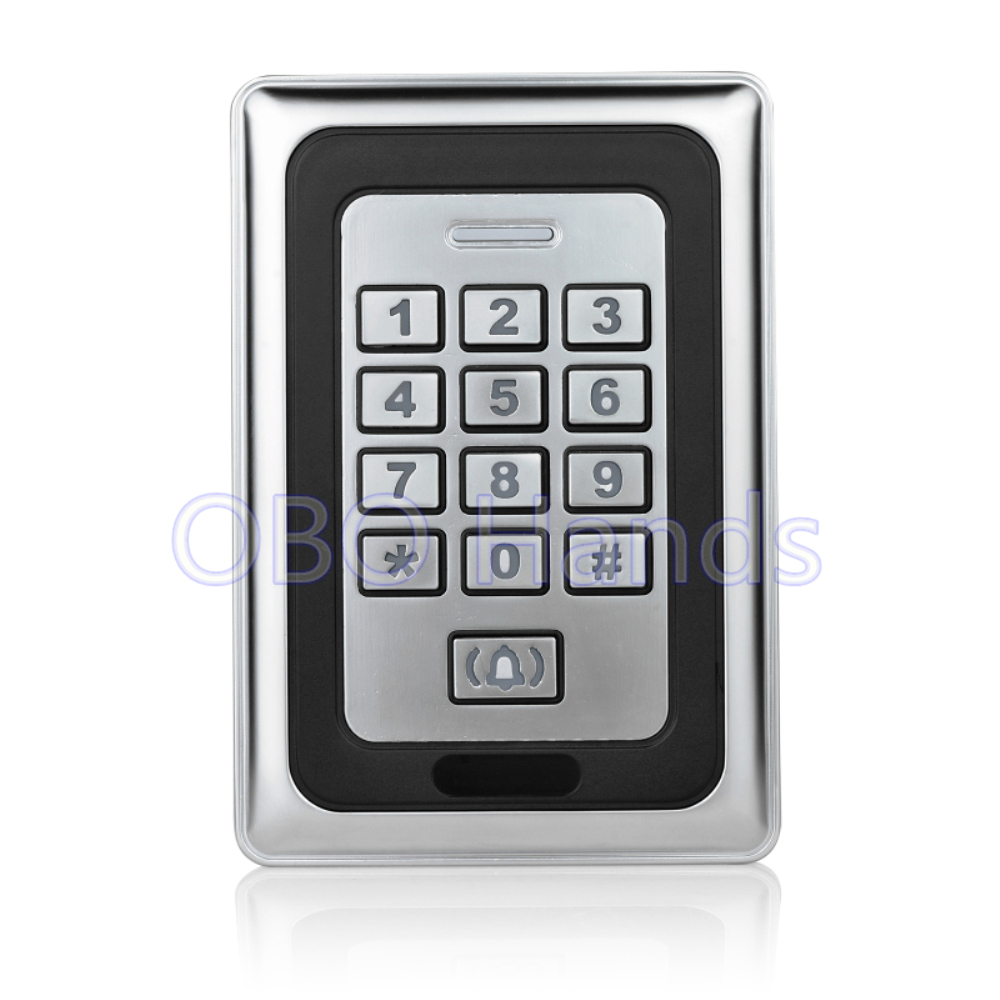 Free shipping metal waterproof access control door access control system RFID card reader metal keypad Security-K88 silver<br>