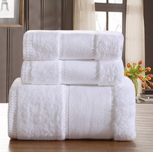 Luxury Five-star Hotel 100% Cotton Brand Bath Towel Sets White Beach Towels for Adults Super Soft Absorbent Bathroom Towels