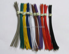 "10 colors x 15pc cord UL 1007 26AWG wires Kit 150mm=6"" cable for LED etc. 150pcs tinned copper conductor .(China)"