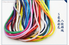 1pc 1 Meter  Natural cotton cords 17 color choice stronge Twisted cotton Rope String Cord Wedding decoration DIY craft cords