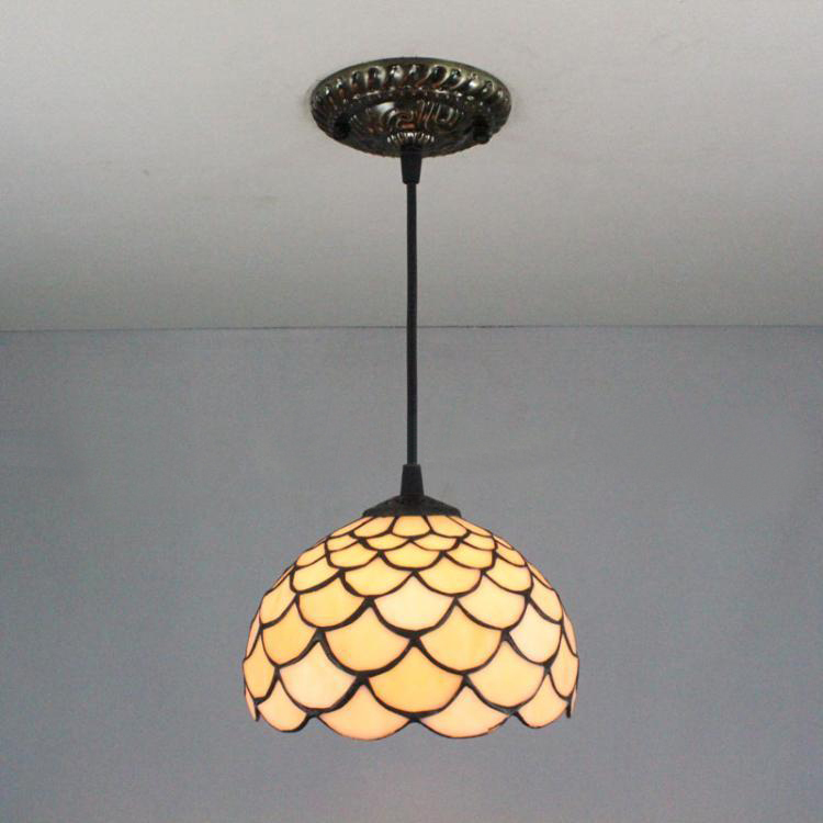 8 Inch Squamous Pendant Light Tiffany Chinese Dining Room Droplight Mediterranean Simple Bedroom Aisle Balcony Bar Stairs Light<br><br>Aliexpress