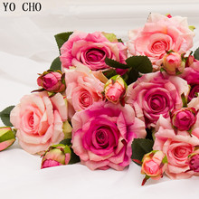 Real touch rose christmas decorations for home silk artificial peony Wedding decoration marrige decorative flower Party Decor(China)