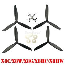 SYMA X8 X8C X8G X8W X8HC X8HW axis aircraft parts black Upgraded version propeller blades Drone spare parts Blade RC Quadcopter(China)