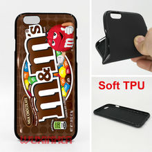 Milk Chocolate MMS Phone Case Soft TPU For iPhone 6 7 Plus SE 5S 4S Touch 6 For Samsung S8 Plus S7 S6 Edge S5 Note 5 2016 J3 J5(China)