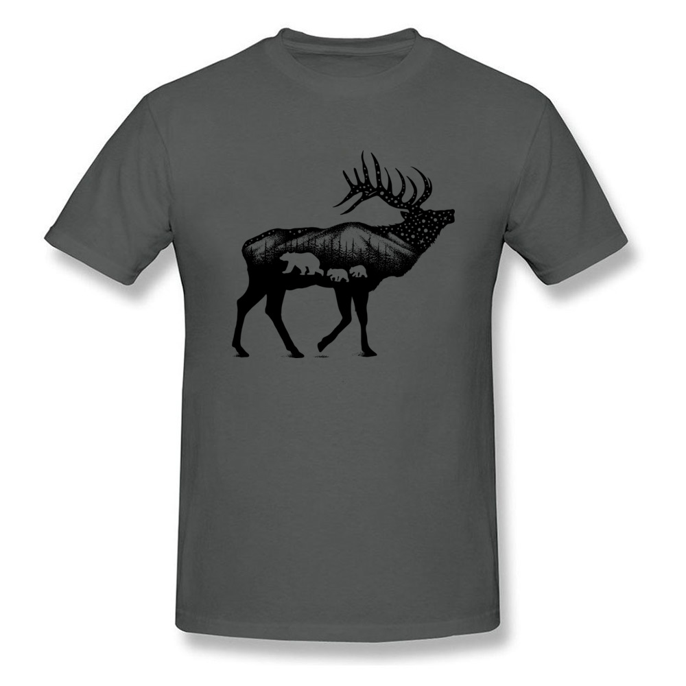 ELK 100% Coon Fabric Tshirts for Boys Short Sleeve Cool Tops T Shirt Graphic Summer O Neck T-Shirt Normal Wholesale ELK carbon