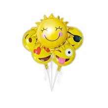 5pcs/pack balloons Sun Smile balloon party Decoration balloons emoji