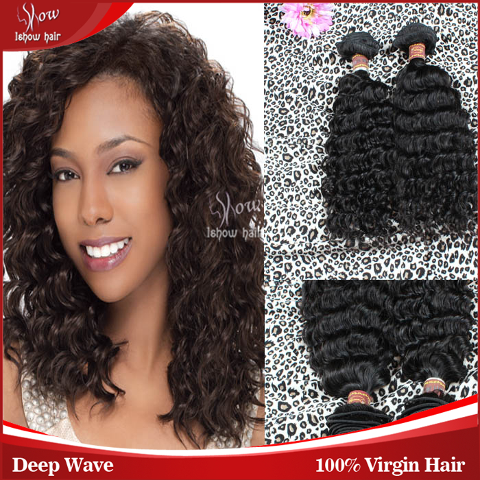 malaysian weave hair deep wave human hair weft virgin hair bundles ishow products being beauty human weave 14-26inch 4pcs lot<br><br>Aliexpress
