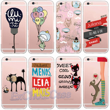 Newest Cute Owl Cat Red Heart Letters Unique Bulb Hard Plastic Phone Case for iPhone 5 5s se 6 6s 7 Plus Transparent Skin Shells
