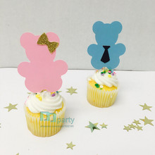 Teddy bear toppers. Gender reveal party. Teddy bear babyshower. Twins birthday party. My little bear. Babyshower favors.