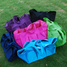 Wholesale Blanks Plain Polyester Large Garden Tote Utility Tote Bag Garden Tool Bags in many colors DOM103307