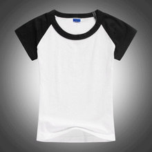 Blank Unisex Two Color Kids T Shirt Black And White Organic Cotton Basic Tops Tee Undershirt Kids Clothing 2 3 4 6 8 10 12T 1426(China)