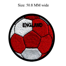 Soccer Ball England embroidery patch 50.8 MM wide / applique/ badge/popular sticker(China)