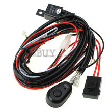 30PCS/LOT  LED HID Work Driving Light Wiring Harness 12V 40A Switch Relay