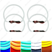 4x131.5mm Soft Cotton LED Light Angel Eyes Halo Ring Daytime Running Light DRL Kit 5-Color Optional For BMW E36/E38/E39/E46/E318