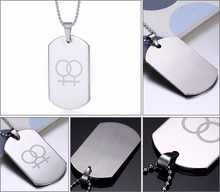 Lesbian Suspended Stainless Steel Necklace For Women