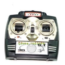 Free shipping GT Model QS8004 35hz Remote Controller (New version) Original QS8004 RC Helicopter Spare parts Transmitter 35mhz(China)