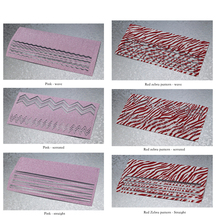 pink Scrub Red Zebra pattern nail art line wave serrated pegatinas christmas nail transfer foil nail art decorations 2017(China)