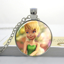1pc free shipping Cute fairy Pendant Fairy Dust Jewelry Silver fairy Necklace Kids gifts HZ1(China)