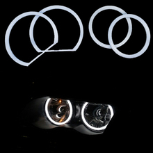 HOPSTYLING Super Bright 2x (106mm+131mm) Cotton SMD LED Angel eyes halo ring kit for BMW E90 3Series White Car Led Lighting(China)