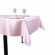 10pcs/ Pack 90 x 132 inch Rectangular 228cm x 335cm Satin Tablecloth Table Cover For Wedding Party Restaurant Banquet Decoration(China)