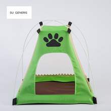 SU GENERIS Good quality Dogs Cats portable foldable Tent pet House kennel Pets Fashion Outdoors Camping Home two colors(China)