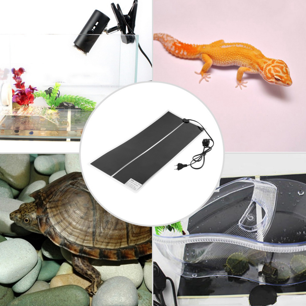 Pet Reptile Heating Heater 65x28 IR 35W Warmer Bed Mat Pad Amphibians Adjustable Temperature Hot Worldwide(China)