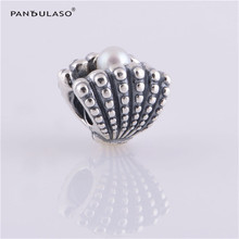 Pandulaso Pearl Shell Sea Beads for DIY Jewelry Making Fit Charms Silver 925 Original Bracelets & Bangles Women Pearl Jewelry(China)