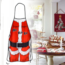 Christmas Party Decor Santa Claus Apron Home Kitchen Cooking Chef Red Aprons